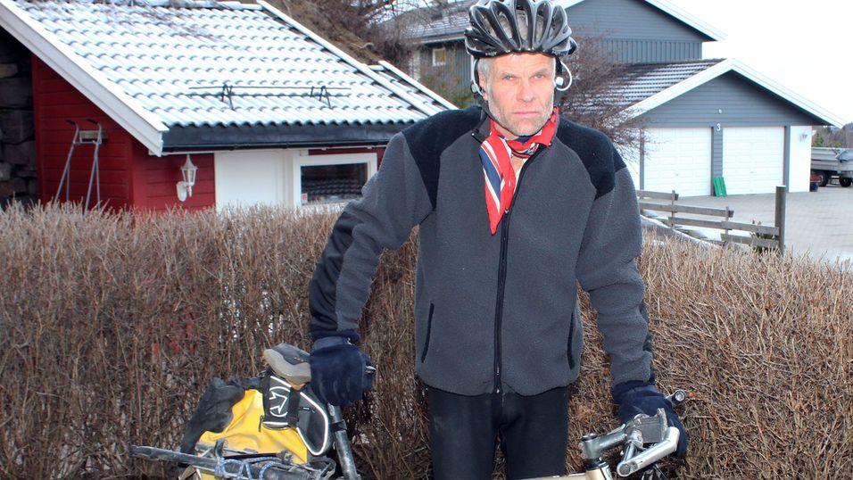Leif Kagge er helårssyklist, og tok utfordringen med å prøve ut Uclears håndfrisett for syklister.