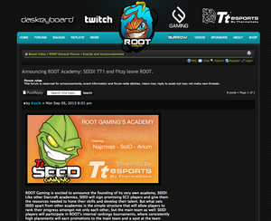 Seed Academy er ROOT Gamings initiativ der de bygger opp spillere. (Faksimile: ROOT Gaming).