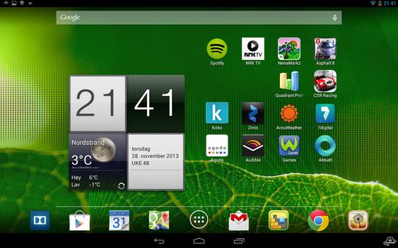 De som er vant med nettbrett fra Android, drar nok også kjensel på dette oppsettet.