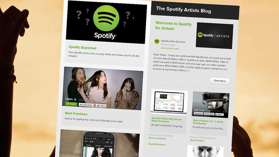 Spotify forklarer sin forretningsmodell