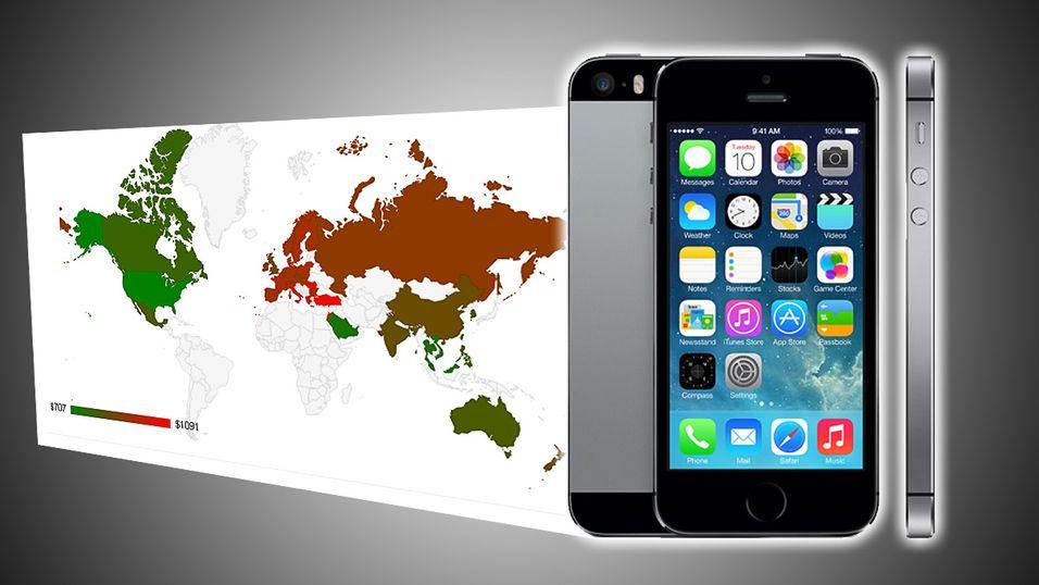 Så mye koster iPhone verden rundt