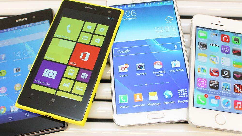SAMLETEST: Dette er årets smarteste mobiltelefoner