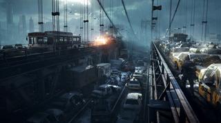 Trafikken i New York har ikke blitt noe bedre etter katastrofen. (Bilde: Massive/Ubisoft).