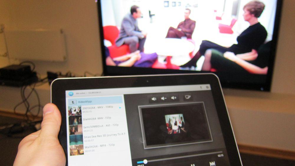Send innhold til TV-en din uten å bruke kabel.