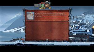 Historia blir fortalt gjennom tekstblokker som sender nostalgiske tankar tilbake til gamle rollespel.
