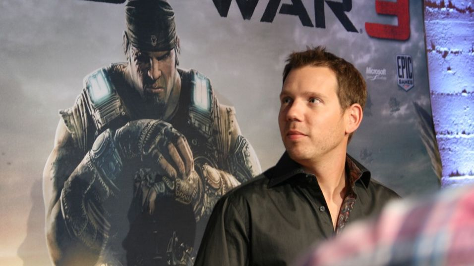 Cliff Bleszinsky, her i sammenheng med et arrangement for Gears of War 3.