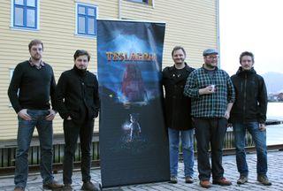 Noen av utviklerne i Rain Games. Fra venstre: Aleksander Helgesen, Aslak Helgesen, Peter Wingaard Meldahl, Ole Ivar Rudi, og Fredrik Ludvigsen.