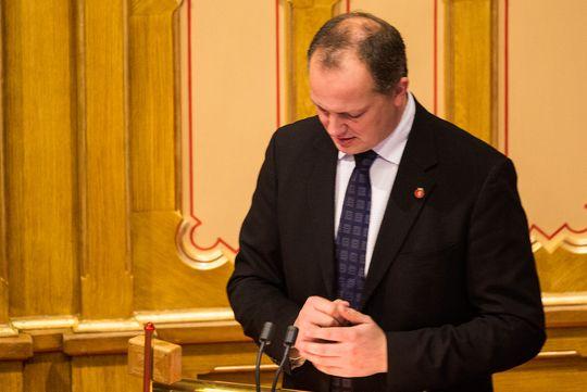Samferdselsminister Ketil Solvik-Olsen, Fremskrittspartiet.