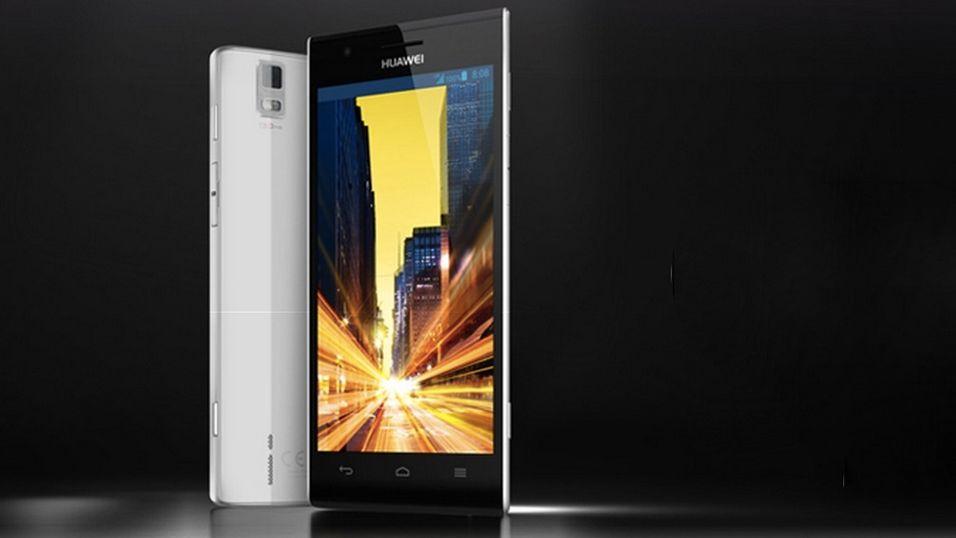(Dette er en annen toppmodell, Huawei P2).