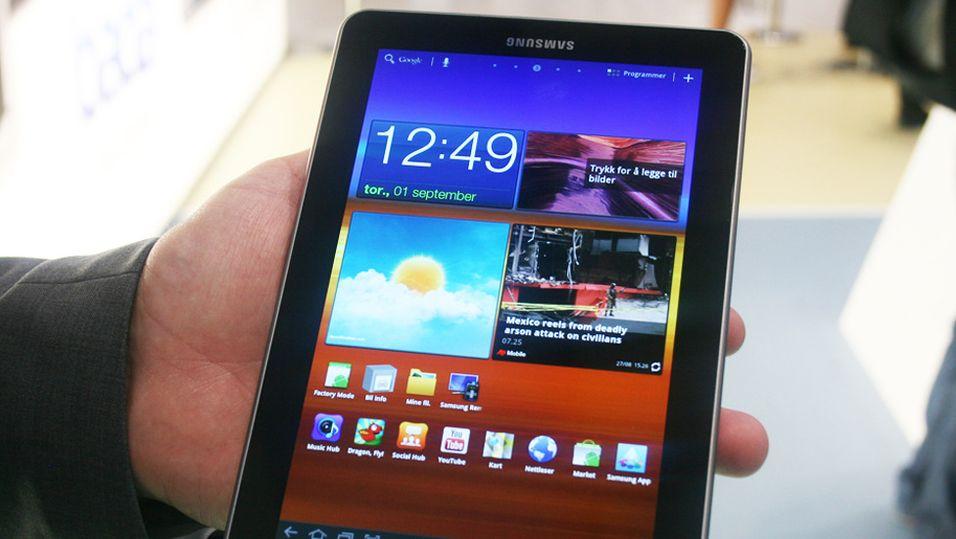 Sist Samsung lanserte et nettbrett med AMOLED-skjerm var i 2011. Apple var ikke særlig fornøyd, og fikk stoppet brettet i en tysk domstol.