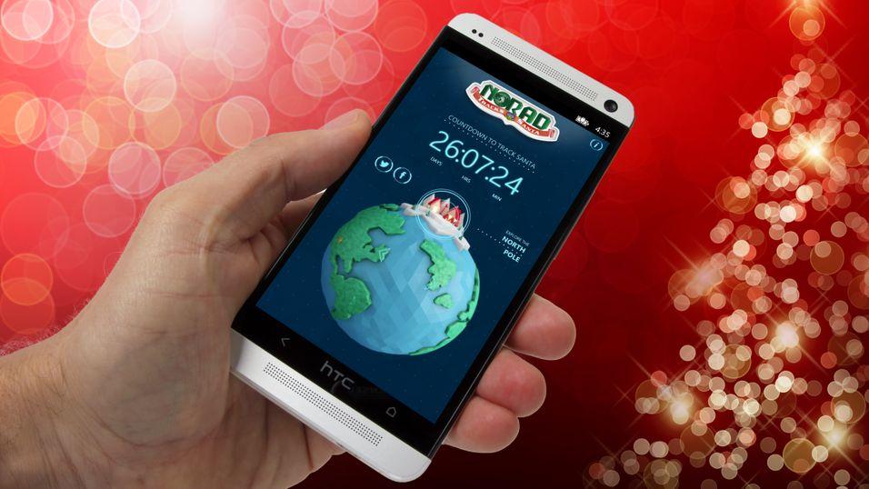 Bruker mobilen til juleforberedelser