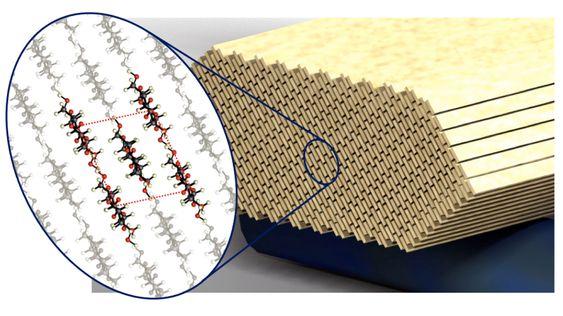 Dette bildet viser strukturen i nanopartiklene.