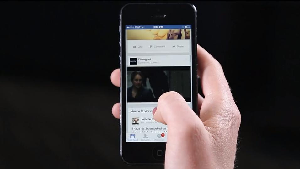Facebook lanserer automatisk avspilling av reklamevideoer