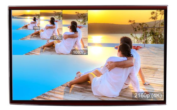 4K er fire ganger så mange piksler som Full HD.