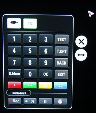 LG har en hurtigskjerm som blant annet gir deg tilgang til tall. .