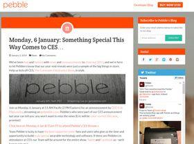 Smartklokkeprodusenten Pebble har annonsert at de vil ha lansering under CES-messen i Las Vegas.