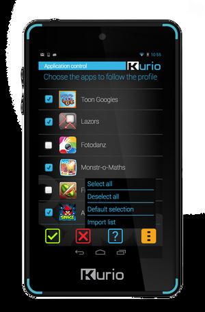 Kurio har allerede et 4-tommers nettbrett som minner svært mye om den nye mobiltelefonen. Dette heter Kurio 4S Touch, og er uten SIM-kort. .