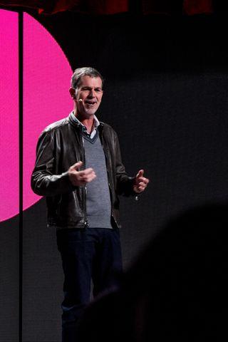 Toppsjefen i Netflix, Reed Hastings. Foto: Varg Aamo.