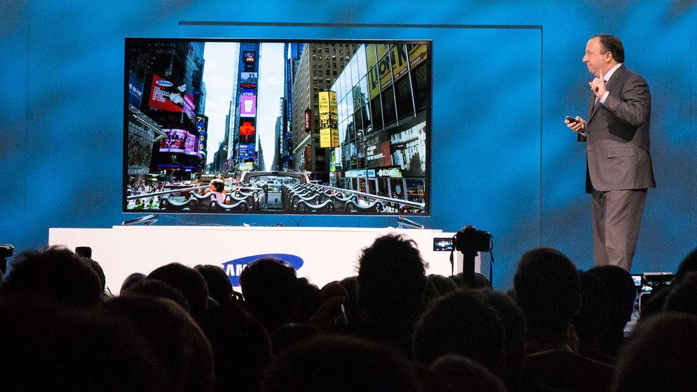 Se TV-en som endrer form ved et knappeklikk