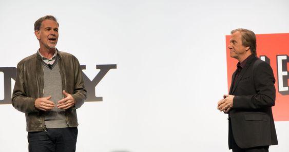 Reed Hastings til venstre, Mike Faluso til høyre.