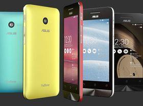 ZenFone 4 kommer i fargene blå, gul, rød, sølv og sort. .