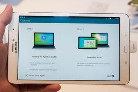 Samsung er ikke fremmede for å legge til spennende funksjonalitet. De nylanserte nettbrettene kommer med en egen app som lar deg fjernstyre PC-en hjemme.