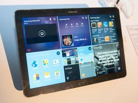 Hjemmeskjermene på Android-produkter pleier da ikke å se slik ut? Samsung har lagt til en ny magasindesign for hjemmeskjermene i den nye PRO-serien.