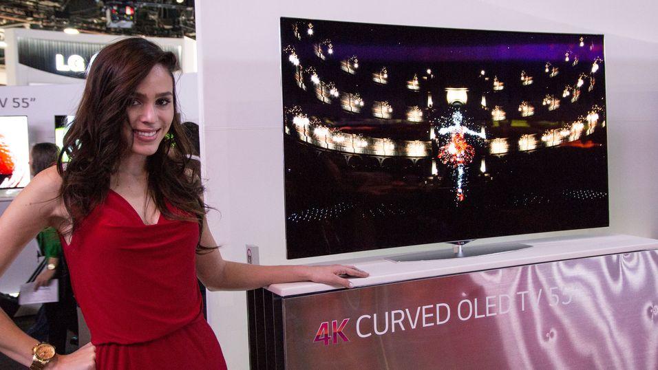 – De kurvede TV-ene vil selge bedre enn vanlige TV-er i år
