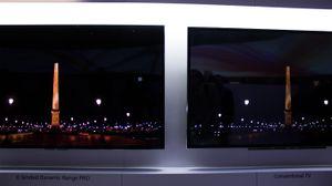 Det er en meget synlig forskjell på TV-er med høy og lav dynamisk spennvidde på lysstyrken.