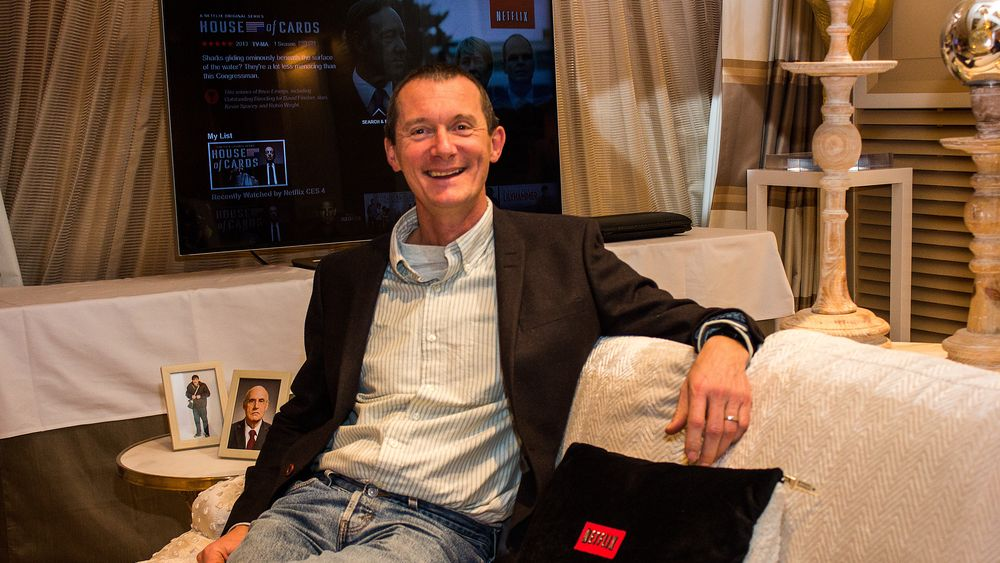 Netflix' tekniske produktdirektør, Neil Hunt, snakker med Hardware.no i Las Vegas.