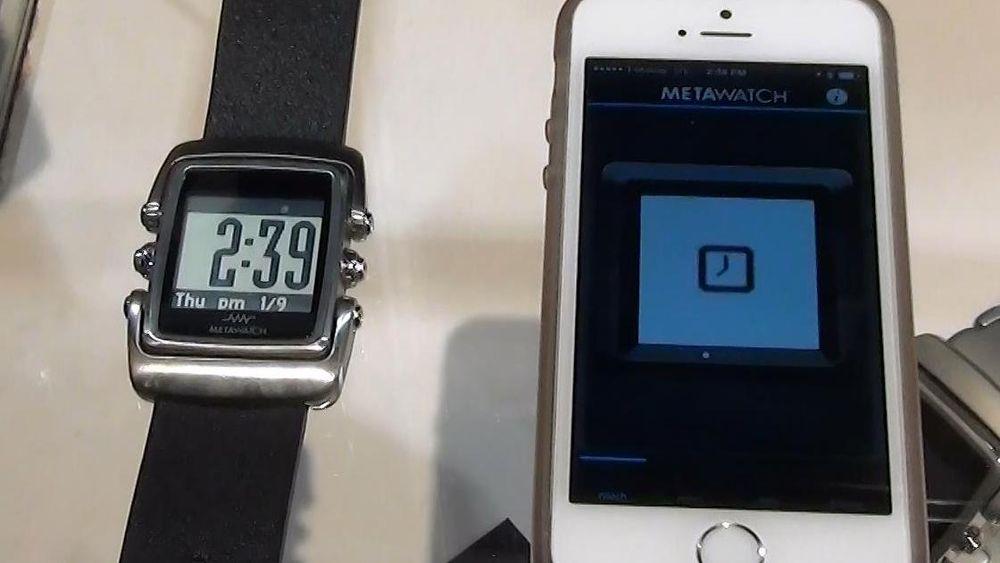 MetaWatch styres fra en app på mobiltelefonen. Klokken vi fikk se på kjørte imidlertid eldre programvare enn den vil bli levert med.
