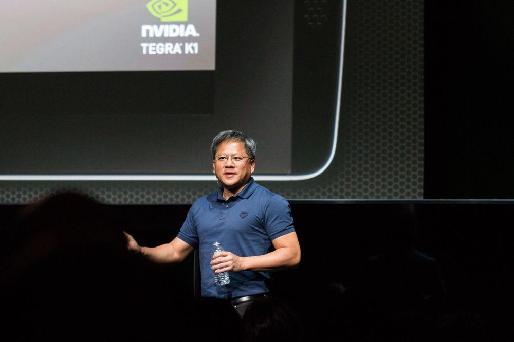 Jen-Hsun Huang, toppsjefen i Nvidia var fast bestemt på å selv holde selskapets pressekonferanse. Han var imidlertid relativt syk, og måtte flere ganger stoppe opp for å tenke, drikke og få tilbake stemmen han støtt og stadig mistet. .