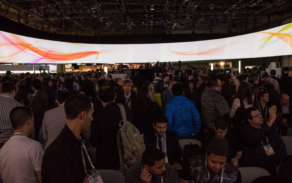 Pressekonferanser på CES er folksomme, her fra Sonys tilstelning.