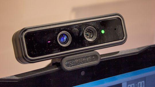 SoftKinetic-kameraet var godt besøkt av nysgjerrige skuelystne gjennom CES-uka.