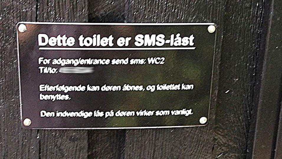 Her må du sende SMS for å gå på do