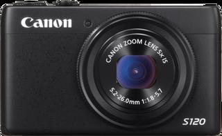 Velkjent front på Canon S120.