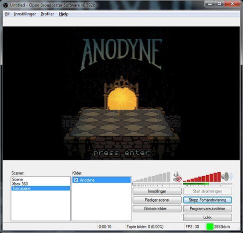 Her forhåndsvises det hvordan Anodyne vil se ut på strømmen.