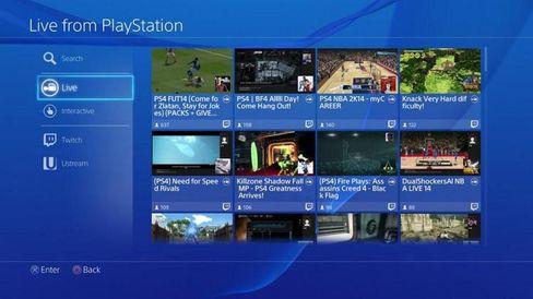 PlayStation 4 støtter strømming med et eget grensesnitt.