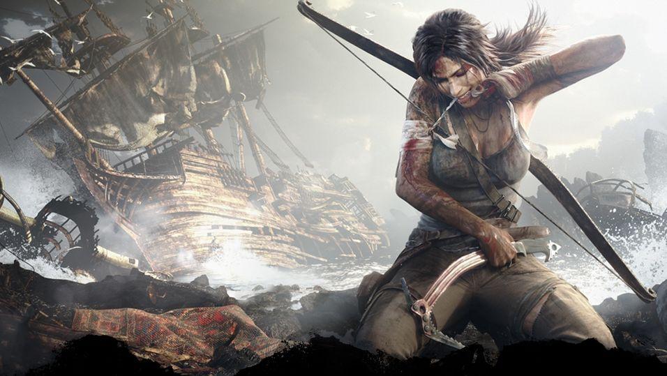 Konseptkunst fra Tomb Raider.