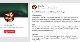 I en post på Google+ forklarer Chainfire hvorfor strammere sikkerhet kan bli et problem. Utviklere som lager apper for telefoner med admin-tilgang, oppfordres til å begynne tilpasningen med det samme.