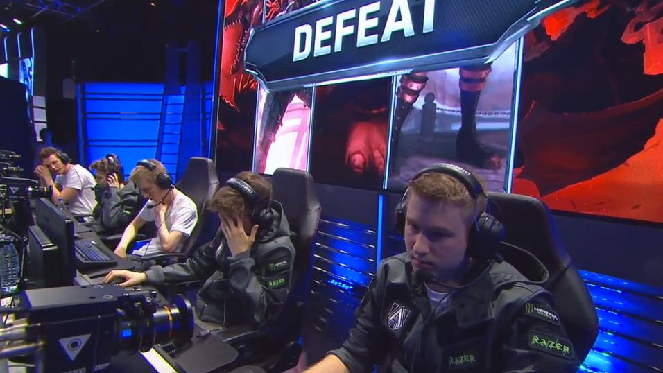 Alliance etter å ha blitt slått av Copenhagen Wolves.