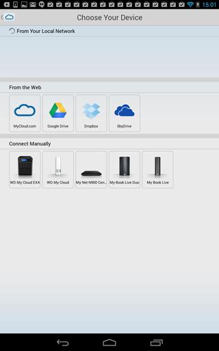 Mobilappene støtter også andre skylagringstjenester som Dropbox og SkyDrive, kjekt for deg som ikke har absolutt alt på ett sted.