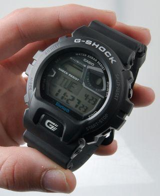 """Slik ser Casios """"smarte"""" G-Shock-klokke ut. Denne er en av de mer grunnleggende variantene på markedet."""