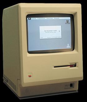 Macintosh 128k fra 1984.