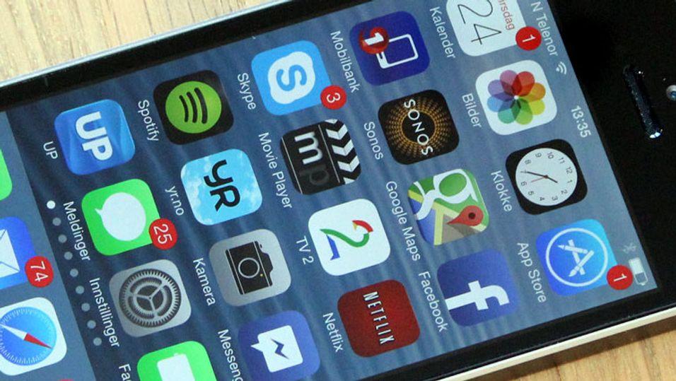 Apples iPhone 5S er den telefonen i undersøkelsen som bruker mest data.