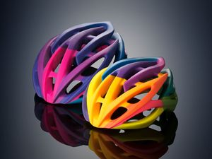 3D-printet sykkelhjelm.