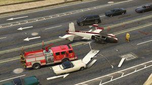Flystyrt på motorveien.