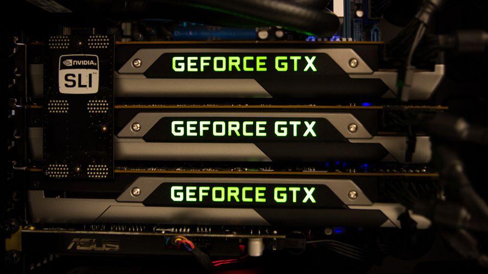 Dagens GeForce GTX Titan er Nvidias mest populære modell for SLI-oppsett. Her fra vår test av et slikt oppsett.
