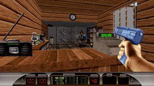 Duke Nukem 3D var et av de første 3D-spillene som satte handlingen til kjente miljøer (bilde: Devolver).