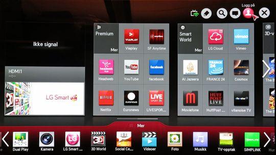 Menyen til OLED-TV-en er helt lik den vi testet på 4K-modellen til selskapet tidligere i år. .